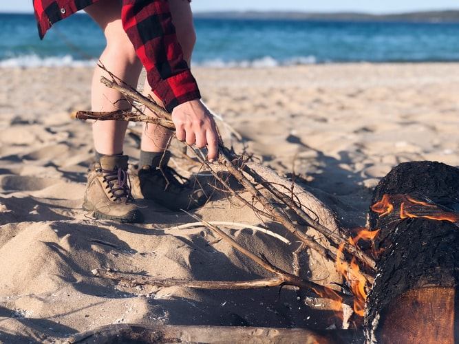 beach camping tip bring your own firewood