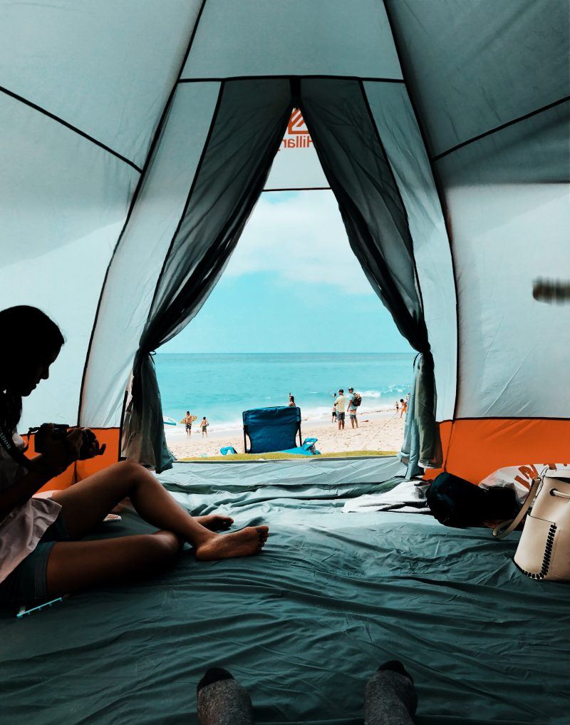 beach camping tip keep the tent dry